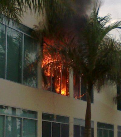 Se incendia un local en Plaza Aura de Cancún sin heridos