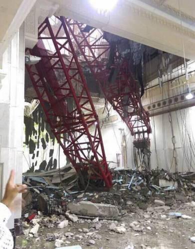 OTRA TRAGEDIA EN LA MECA: 107 muertos y 238 heridos al desplomarse una grúa sobre la Gran Mezquita