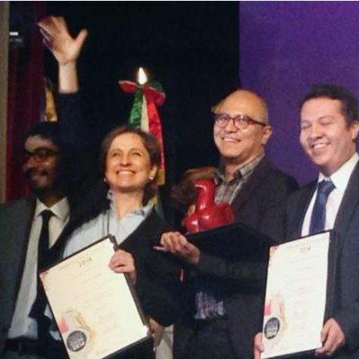ESTE PREMIO ES UN NO A LA CENSURA: Reciben Aristegui y su equipo galardón por la investigación de la Casa Blanca de EPN