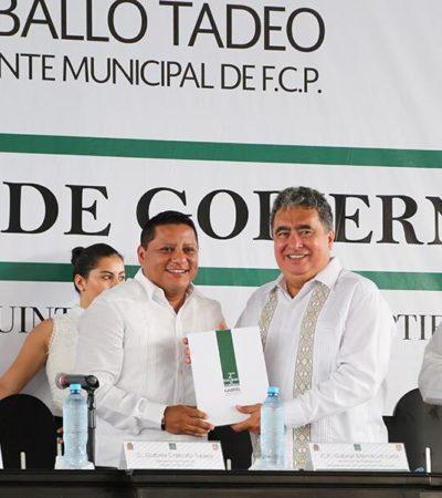 En ausencia del Gobernador Borge, preside Mendicuti informe de Gabriel Carballo en la Zona Maya