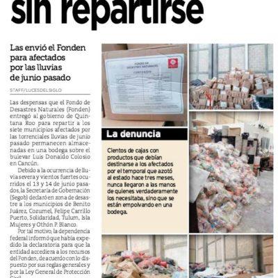 Ubican bodega en Cancún con cientos de despensas almacenadas que no se repartieron durante las lluvias de junio