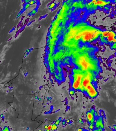 Mantienen bajo vigilancia perturbación sobre la península con potencial de lluvias