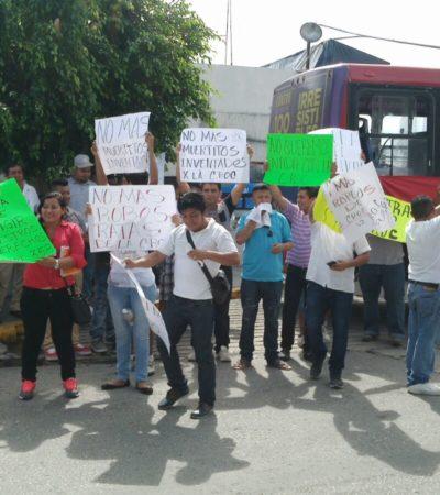 Rompeolas: Partidizan conflicto de Autocar en favor de la CROC