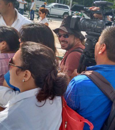 AFLORA FOBIA DE PAUL CARRILLO CONTRA LOS MEDIOS: Impide guardaespaldas que reporteros se acerquen al Alcalde de Cancún