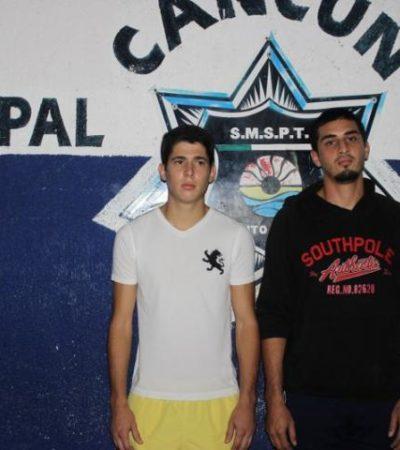 Detienen a 2 jóvenes con marihuana en la SM 507 de Cancún