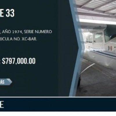ALISTAN SUBASTA DE BIENES ASEGURADOS: Inmuebles, aviones y helicópteros decomisados al crimen organizado, al mejor postor en Cancún