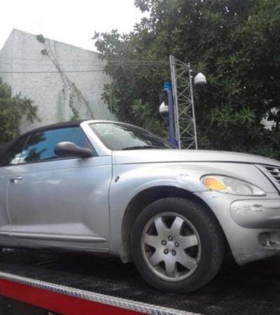 Recuperan vehículo robado en Cancún