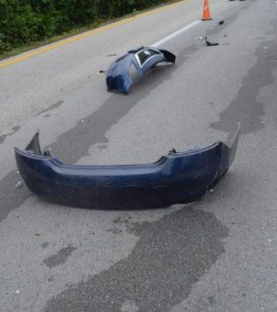 Tres muertos en accidentes en carreteras en el norte de Quintana Roo