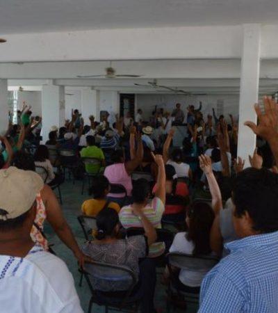 PURGA EN EL EJIDO CALDERITAS: Separan a 39 miembros que se opusieron a venta de mil hectáreas a inmobiliaria yucateca