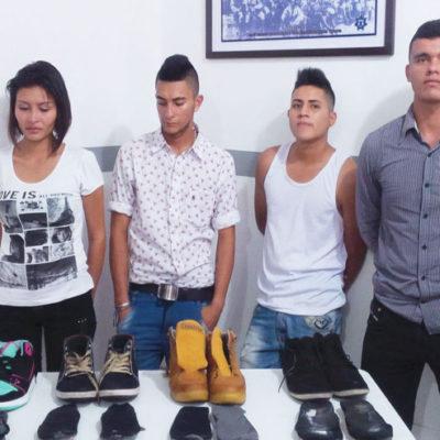 SIGUE TRASIEGO DE DROGA EN AEROPUERTO: Procedentes de Colombia, detienen a otros 3 hombres y una mujer con 2 kilos de cocaína oculta en los zapatos