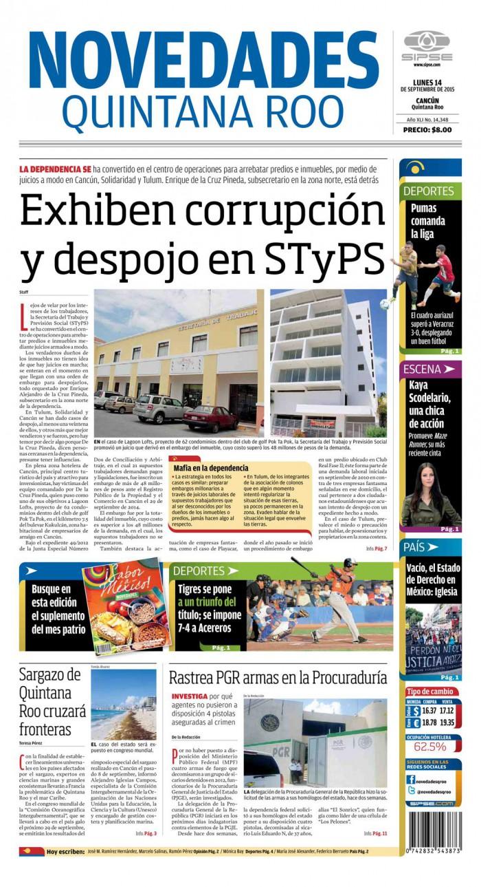 EXHIBE DIARIO LOCAL A ALFIL DEL GOBERNADOR: Publican más casos de juicios y desalojos armados desde la STyPS por Enrique de la Cruz Pineda