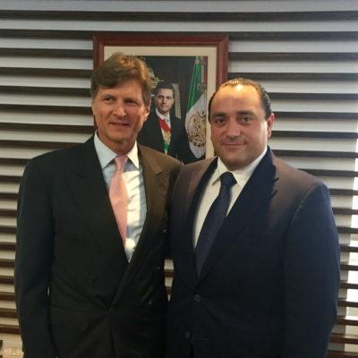 BORGE EN LA SECTUR: Se reúne Gobernador con el nuevo titular de Turismo, Enrique de la Madrid