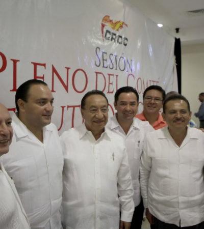 Placea Borge a Mauricio y a 'Chanito' en evento en Playa con el líder nacional de la CROC