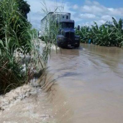 Se desborda río de la Sierra en Tabasco por intensas lluvias