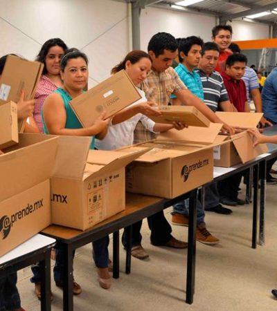 Advierten que vender las tabletas que entrega el gobierno a estudiantes es un delito
