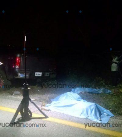 ACCIDENTE MORTAL EN LA VÍA MÉRIDA-CANCÚN: Fallecen 4 miembros de una familia de Cozumel al chocar contra camioneta por maniobra imprudente; otras 6 personas, todos de QR, quedan seriamente heridas