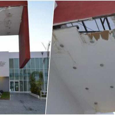 OBRA CHAFA EN CHETUMAL: Inaugura Borge juzgados de 23 mdp y ya se está cayendo el techo a poco más de un año de funcionamiento