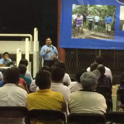 Rinde regidor del PAN, Roberto Olán, informe en Cozumel y pide a todos ser parte de la solución y no del problema
