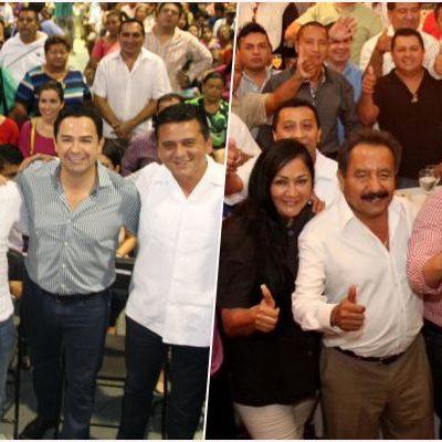 Rinden informe dos diputados priistas de Cancún que aspiran a ser alcaldes