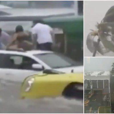 AZOTA 'PATRICIA' A JALISCO Y COLIMA: Huracán baja a categoría 4, pero aún representa fuerte peligro; provoca cuantiosos daños materiales
