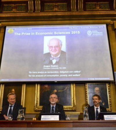 CONSUMO, POBREZA Y BIENESTAR: Dan Nobel de Economía a profesor británico-estadounidense de Princeton por conectar el análisis de la micro con la macroeconomía