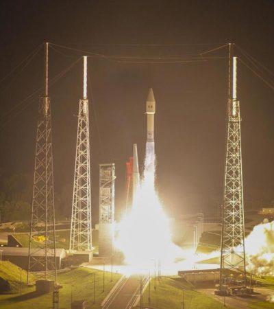 CINCO TONELADAS EN EL ESPACIO: Lanzan con éxito satélite mexicano ' Morelos 3' desde Cabo Cañaveral