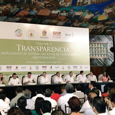 QUE NO SEA LETRA MUERTA: Desde el Congreso, promueven la transparencia; Mendicuti inaugura foro en Chetumal