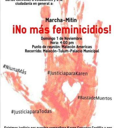MÁS MUERTAS EN CANCÚN: Siguen feminicidios y la indolencia de Borge; marchan para exigir justicia | Por Carlos Cantón