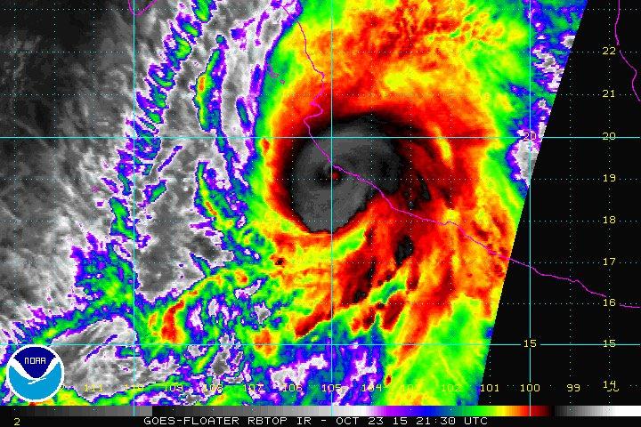 'PATRICIA' TOCA TIERRA AL SUR DE JALISCO: El mega huracán provoca máxima alerta; reportan vientos de 350 kph antes del impacto directo