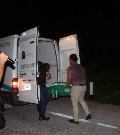 Muere mujer atropellada en la carretera federal en Felipe Carrillo Puerto