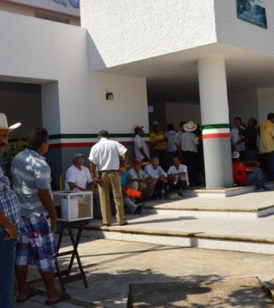 EJIDATARIOS EN PIE DE GUERRA: Mantienen toma de la SCT en reclamo de indemnizaciones por tierras
