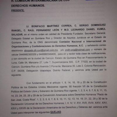 """""""ESTAMOS EN ESTADO DE INDEFENSIÓN"""": Piden intervención de la CIDH en cuatro casos de abuso de autoridad en Quintana Roo"""