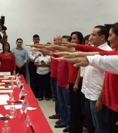 SE REGODEA PRI EN SU SIMBIOSIS CON EL GOBIERNO: Designan a Fabián Vallado, delegado de Sedesol en QR, y a otros 6 funcionarios como operadores políticos para elección del 2016 en Cancún; en Cozumel ponen a hermanos