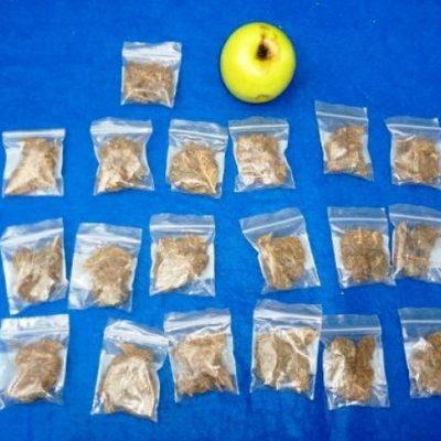 Caen 2 dos narcomenudistas con 15 dosis de marihuana en la Región 107