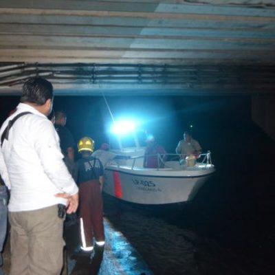 SE LANZA DESDE EL PUENTE CALINDA: Un presunto suicida moviliza a cuerpos de rescate en la Zona Hotelera; no hallan el cuerpo