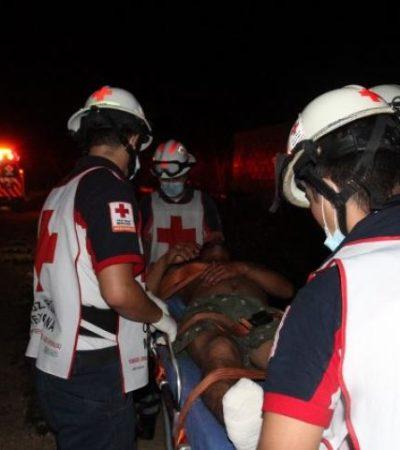 ATAQUE A BALAZOS EN EL MILAGRO: Un hombre herido en un presunto asalto de encapuchados en colonia popular de Cancún
