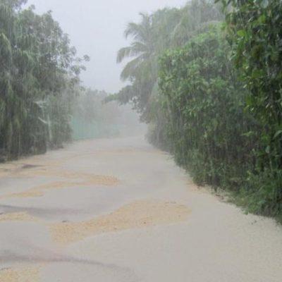 Por anegación de varios tramos del camino, Punta Allen está casi incomunicada