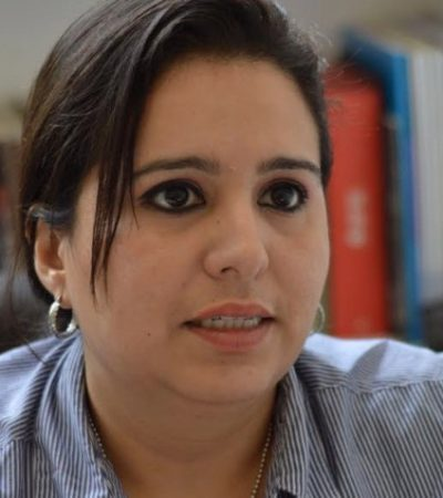 Presenta candidata del Distrito XV solicitud para un debate en Chetumal