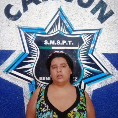 Detienen en Cancún a mujer que intentó ahorcar a su hija de 10 años con una soga