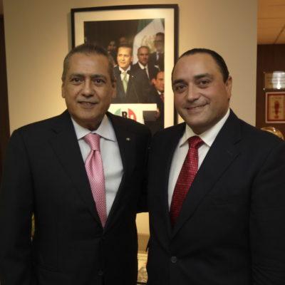 SE REÚNEN MANLIO Y BORGE: Gobernador de QR se entrevista con líder nacional del PRI para 'amarrar', dicen, apoyo a reformas de EPN