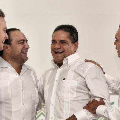 BORGE, EN ACAPULCO: Asiste a toma de protesta de nuevo Gobernador de Guerrero y se toma la foto con sus homólogos