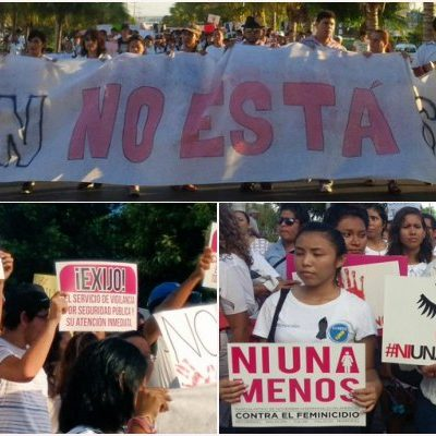 """""""KAREN NO ESTÁ SOLA"""": Marchan miles para repudiar feminicidios en Cancún y exigir justicia para universitaria asesinada; reclaman más seguridad, iluminación y se active alerta de género; """"si no pueden, renuncien"""", demandan"""