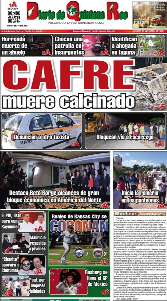 ES NOTA NACIONAL, PERO…: Periódicos en Quintana Roo ignoran o minimizan marcha de miles contra feminicidios en Cancún