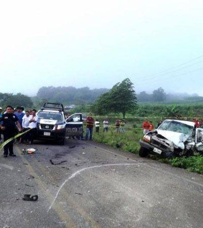 CHOQUE CARRETERO EN EL SUR DE QR: Un muerto y 3 heridos deja accidente en la vía Ucum-La Unión