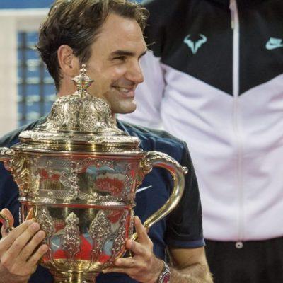 Derrota Federer a Nadal y se corona por séptima vez torneo de Basilea