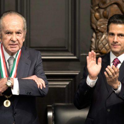LA POLÉMICA 'BELISARIO DOMÍNGUEZ': Entrega Senado su máximo reconocimiento a magnate Alberto Bailleres, aliado del poder político