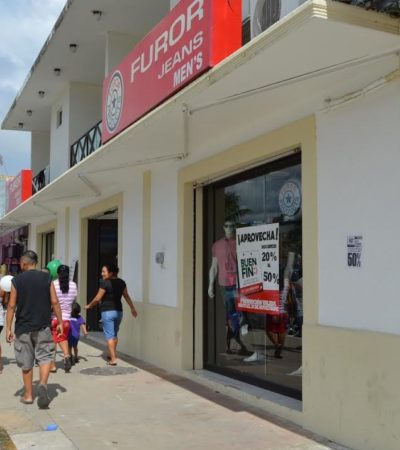 Tan de capa caída andaban, que aseguran que el 'Buen Fin' benefició a los negocios de la Avenida Héroes de Chetumal