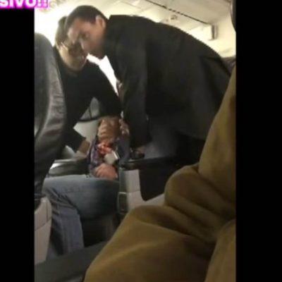 VIDEO | Nieto de ex Presidente Gustavo Díaz Ordaz arma escándalo en avión y agrede a pasajeros