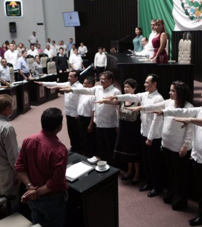 RINDE PROTESTA CONCEJO DE PUERTO MORELOS: Sin sorpresas, avala Congreso planilla de las primeras autoridades del undécimo municipio de QR