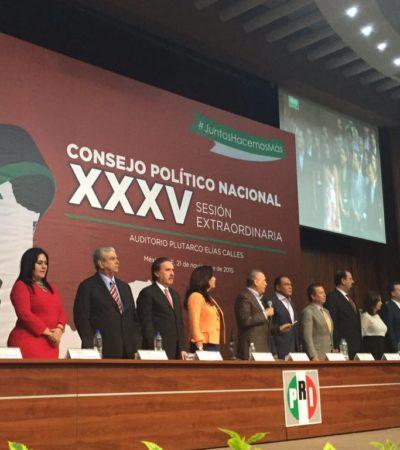Abre PRI puertas a 'independientes' y formaliza acuerdo para hacer efectiva la paridad en reparto de candidaturas